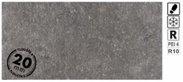Spectre Grey rect. 40x81x2 R10 mrazuvzdorná